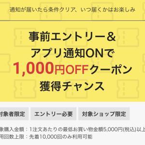 【楽天】1000円OFFクーポンをゲットしよう♡(๑˃̵ᴗ˂̵)