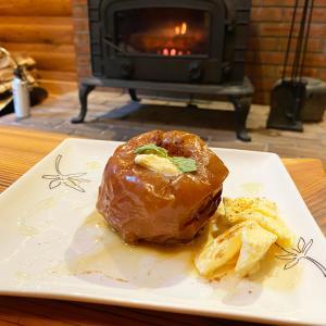 薪ストーブ「ダッジオーブン」で焼きリンゴ!