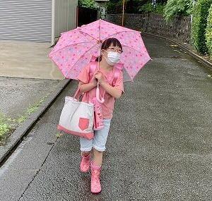 雨の日スタイル。