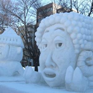 さっぽろ * 雪まつり * の雪像で 「羊」だった 大泉洋さん