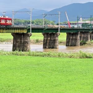 遠賀川を渡る(筑豊電気鉄道)