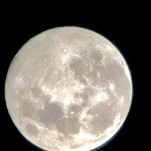 平成最後の満月をスマホで撮る