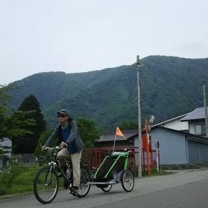 【白馬】久しぶりに息子とチャリオットで湖畔サイクリング!