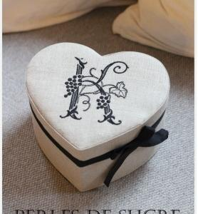 自宅レッスン ハート形の箱 がま金口の箱 シャポースタイルの箱 ダストボックス付きティッシュボックス