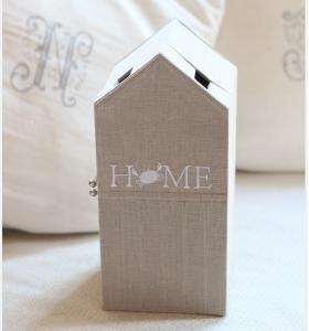 自宅レッスン ビーチハウス型の箱 シンプルジュートバッグ シャルニエの箱