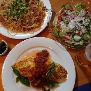 パスタでありもの料理。