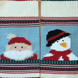 サンタとスノーマンの糸セットを作りました。