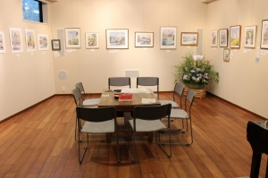 岡田葉子 水彩画展(入場無料)が始まりました。