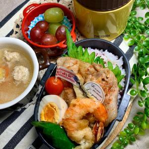 *生姜焼き弁当とおうちごはん*