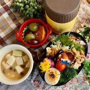 *簡単美味しい豚丼弁当と朝ご飯プレート*