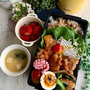 *ご飯がすすむ鶏の甘辛炒め弁当と娘弁当*