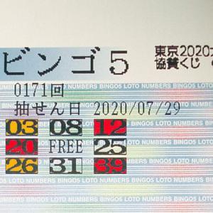 ビンゴ5  第171回予測と抽選結果