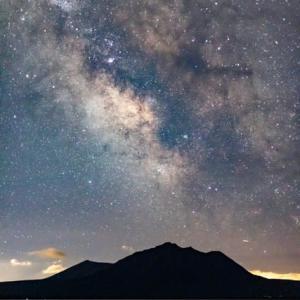 風不死岳と銀河