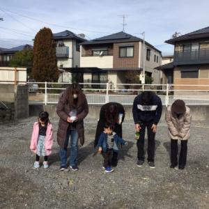 ㊗S様邸二世帯住宅、セルフ地鎮祭☆彡 ビックなZERO-CUBE+BOX2建築開始。