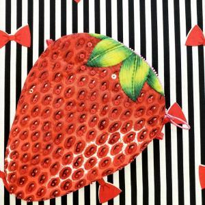 新作キット「イチゴのポーチ」