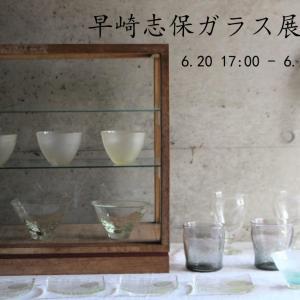 早崎志保ガラス展Online開催中です