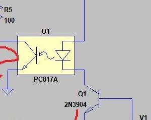 馴染みのないデバイス、フォトカップラ (PC817の伝達特性)