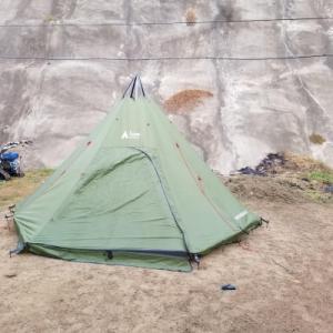 テントの再生