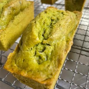 栗入り緑茶ケーキ。