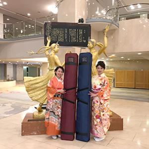 香港からのお客様の宴席にて箏演奏