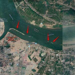Koh Norea地区が拡大のため埋め立てされている