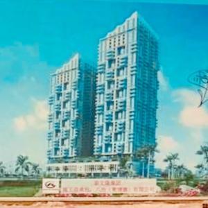 カンポットのビル建設
