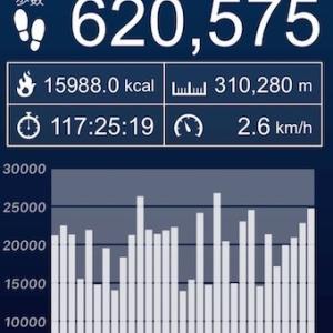4月5日  6ヶ月連続 1日平均2万歩超え