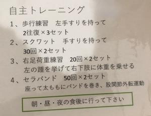 11月29日  自主トレできるようになった。