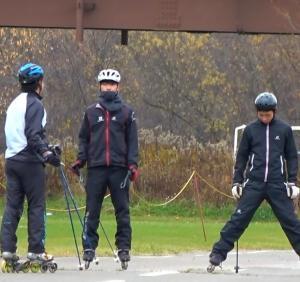 秋のインラインスキー練習前半