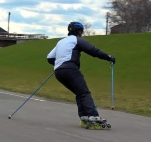 秋のインラインスキー練習後半