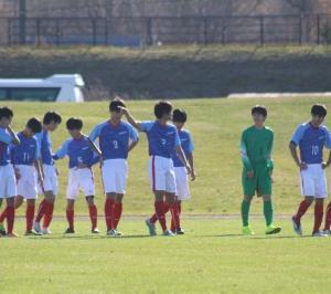 りつき出場の第8回東北海道高校新人サッカー大会前半