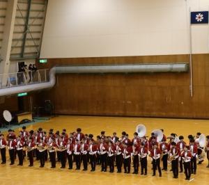 遠軽高校吹奏楽局全日本マーチングコンテスト出場壮行演奏会へ