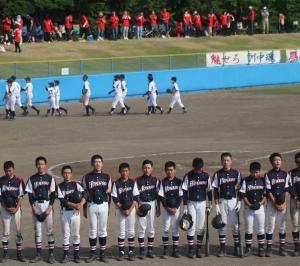I田先生の息子そうけん出場のオホーツク中学校軟式野球大会