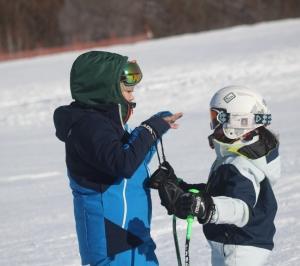北見ジュニアアルペンレーシング・北見工大スキー部合同SL練習