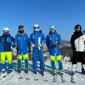 北見地区スキー技術選手権大会の練習