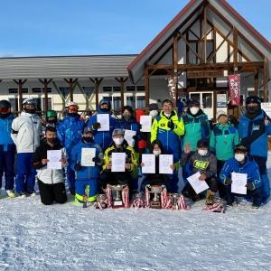 第35回北見地区スキー技術選手権大会閉会式・閉会式後に準指導員検定練習