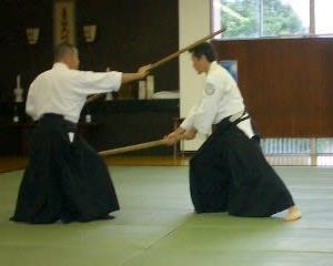 六尺棒術令和元年演武の練習