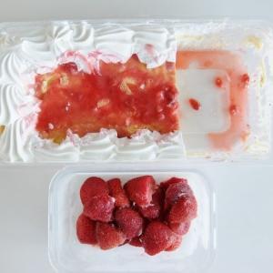 コストコ ◆ ストロベリー スコップケーキ を 冷凍してみた♪ ◆