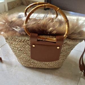 ZARAのカゴバッグを冬用にプチリメイク