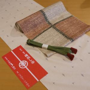 シンプルな紬をモダンな帯と共に。「蔵出し市2019 出品商品紹介 その1」