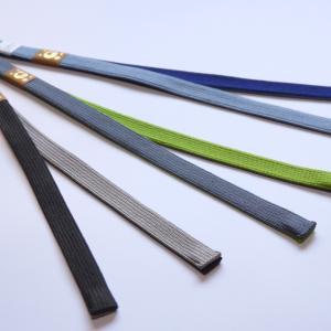 ネクタイの色合わせを楽しむかの様に。「男性用 秋冬新色羽織紐 入荷しました♪」