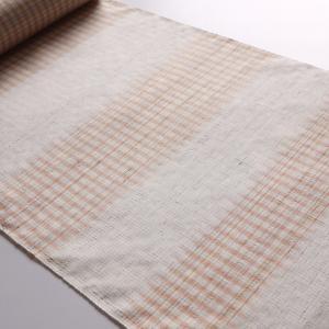 草木染と手織りのぬくもりを。「久保田織染工芸 伊那紬 どんぐり・山桜」