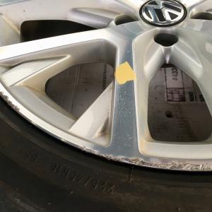 VW パサート ミラーポリッシュの切削 ダイヤモンドカット