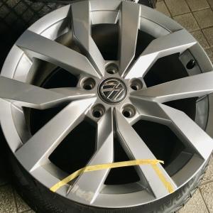 Volkswagen Golf7 ホイール傷リペア シルバーメタリック塗装