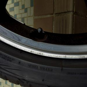 ホイール|ポリッシュリムの傷 塗装修理
