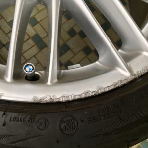 BMW純正シルバーホイール リム傷修理