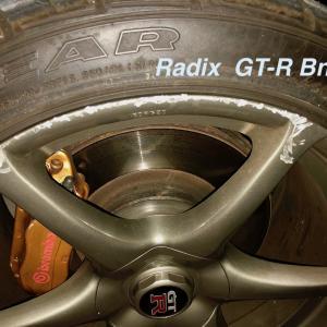 GT-R BNR 34型 純正アルミホイールの傷