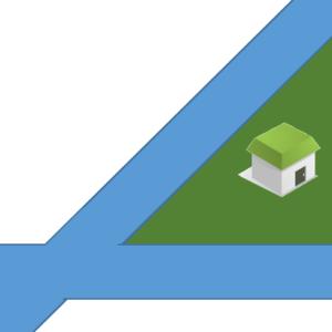 三角の土地