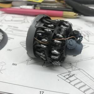 タミヤ1/32コルセアエンジン完成