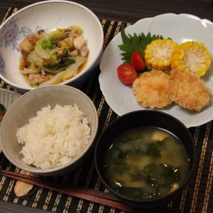 お夕飯 No.89 とり白菜&海老しんじょう